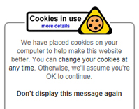 image of older style cookie message