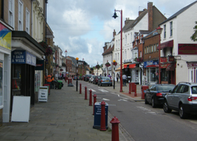 High Street Daventry town centre