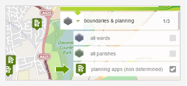 Interactive Mapping - Planning Applications